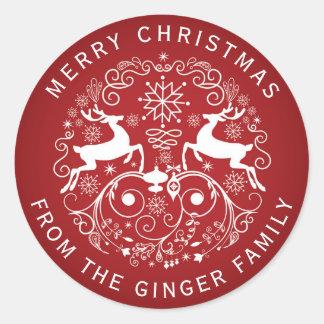 Frohe Weihnacht-Rotwild und