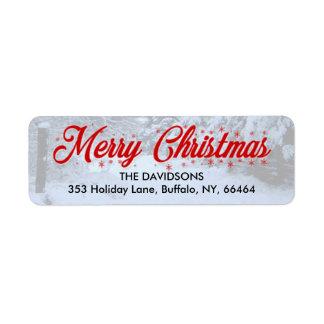 Frohe Weihnacht-Rücksendeadressen-Aufkleber -