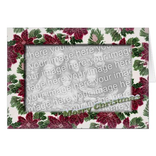Frohe Weihnacht-Schablone Grußkarte