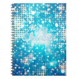 Frohe Weihnacht-Schein-gewundenes Notizbuch Notizblock