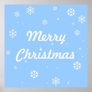 Frohe Weihnacht-Schneeflocken Poster
