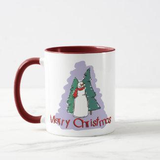 Frohe Weihnacht-Schneemann-Geschenk Tasse