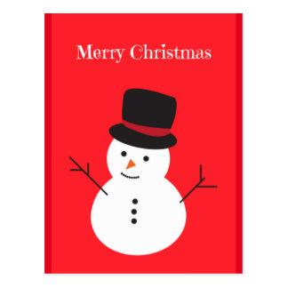 Frohe Weihnacht-Schneemann-Postkarte Postkarte