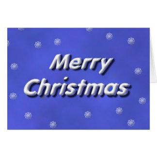 Frohe Weihnacht-Schneien Karte