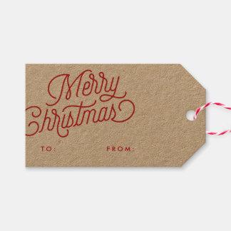 Frohe Weihnacht-Skript-Feriengeschenk-Umbau Geschenkanhänger
