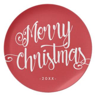 Frohe Weihnacht-Skript Teller