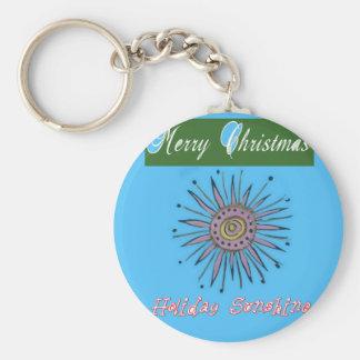 Frohe Weihnacht-Sonnenschein Holiday.png Schlüsselanhänger
