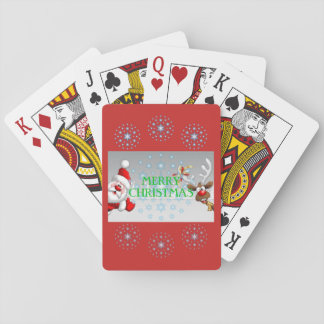 Frohe Weihnacht-Spielkarten Spielkarten
