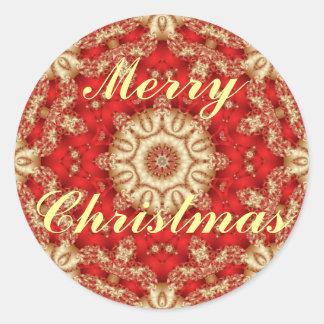 Frohe Weihnacht-Spitze-Umschlag Aufkleber