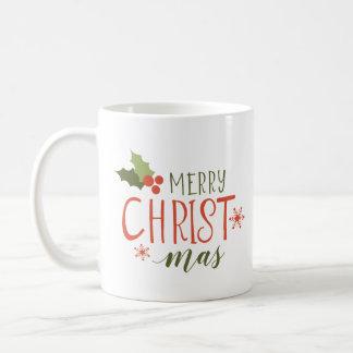 Frohe Weihnacht-Stechpalmen-Beere Kaffeetasse