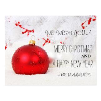 Frohe Weihnacht-und guten Rutsch ins Neue Postkarte