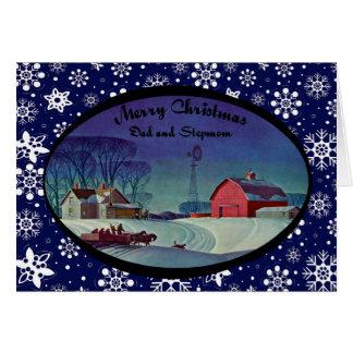 Frohe Weihnacht-Vati u. Stiefmutter Karte