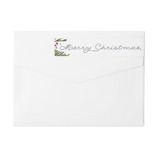 Frohe Weihnacht-Verpackungs-Adressen-Etikett