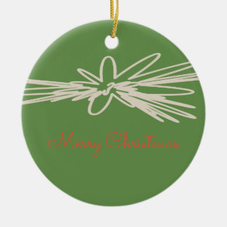 Frohe Weihnacht-Verzierung Rundes Keramik Ornament