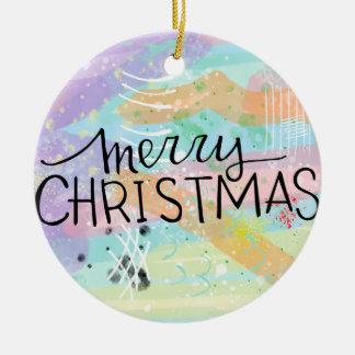 Frohe Weihnacht-Weihnachtskunst-Digital-Malerei Keramik Ornament