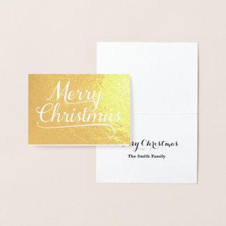 Frohe Weihnacht-Wort-Kunst-Gold Folienkarte