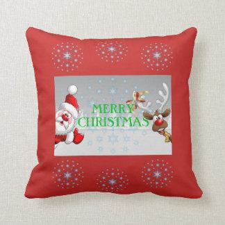 Frohe Weihnacht-Wurfs-Kissen Kissen