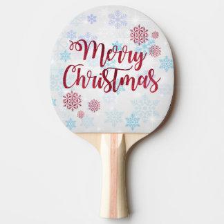 Frohe Weihnachten 2 Tischtennis Schläger