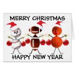 Frohe Weihnachten aller Sport Karten