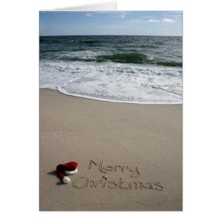 Frohe Weihnachten auf den Strand-OzeanStarfish Grußkarte