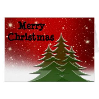 Frohe Weihnachten, Bäume, von unserer Familie Karte