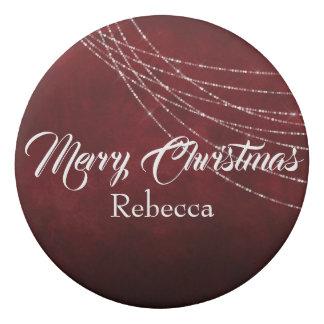 Frohe Weihnachten Burgunder und Weiß Radiergummi 1