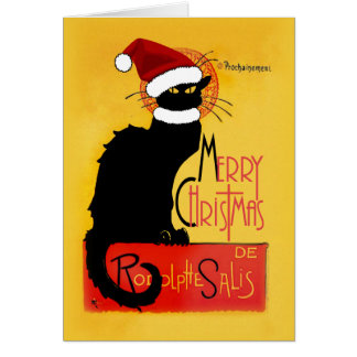 Frohe Weihnachten - Chat Noir Karte