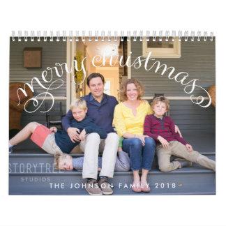 Frohe Weihnachten der Foto-personalisierte Kalender