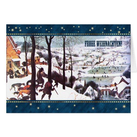 Frohe Weihnachten. Deutsche Weihnachtsgruß-Karten Grußkarte