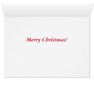 Frohe Weihnachten, die roten Kardinal im Schnee Grußkarte