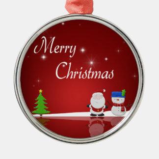 Frohe Weihnachten - erstklassige runde Verzierung Silbernes Ornament