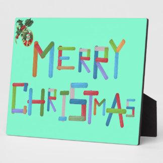 Frohe Weihnachten Fotoplatte