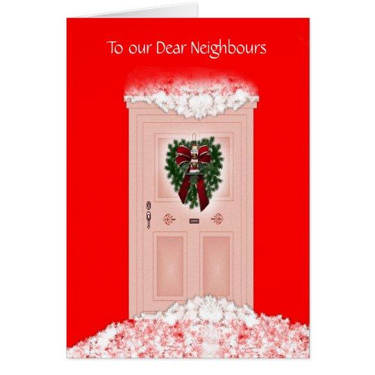 Frohe Weihnachten frohe Feiertage zu den Nachbarn Karte