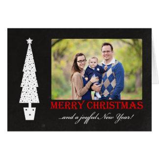 Frohe Weihnachten/frohes Foto des neuen Jahr-4 Karte