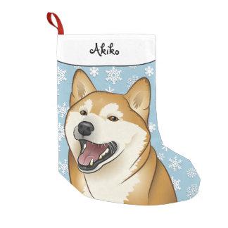 Frohe Weihnachten glücklicher Shiba Inu Strumpf Kleiner Weihnachtsstrumpf