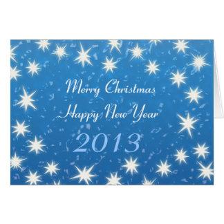 Frohe Weihnachten! Guten Rutsch ins Neue Jahr 2013 Grußkarte