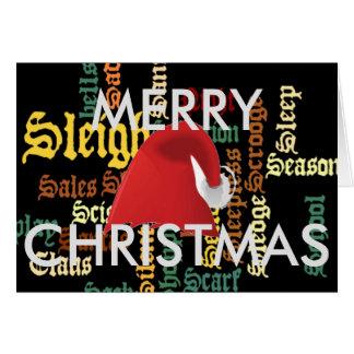 Frohe Weihnachten haben einen schönen Tag u. eine Karte