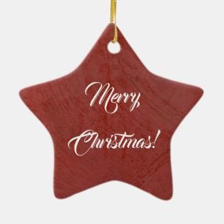 Frohe Weihnachten! Italienischer roter Keramik Ornament