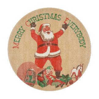 Frohe Weihnachten jeder! Vintager Weihnachtsmann Schneidebrett