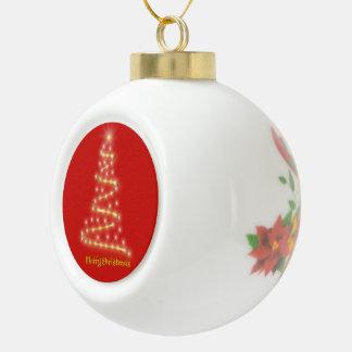 Frohe Weihnachten Keramik Kugel-Ornament