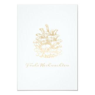 Frohe Weihnachten Kiefernzapfen I Gold Karte