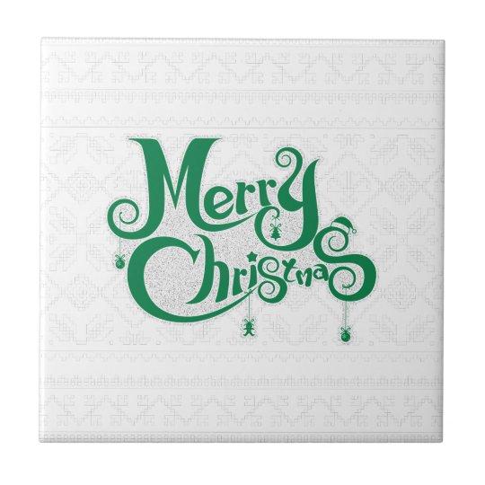 Frohe Weihnachten Kleine Quadratische Fliese