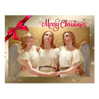 Frohe Weihnachten. Kunst-Weihnachtspostkarten Postkarte