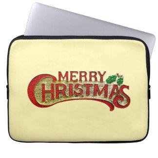 Frohe Weihnachten Laptop Sleeve