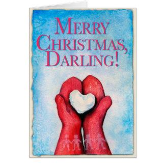 Frohe Weihnachten, Liebling! Weihnachtskarte Karte