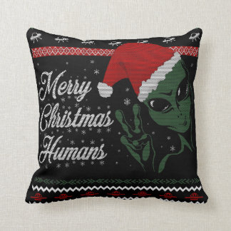 Frohe Weihnachten Menschen - Wurfskissen Kissen