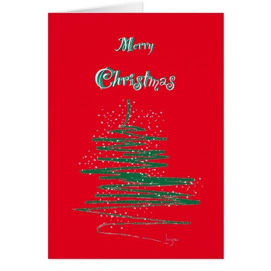 Frohe Weihnachten mit Baum-und Karte