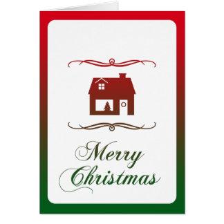 frohe Weihnachten (Mod-Zuhause) Karte