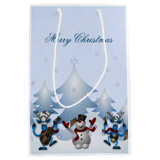 Frohe Weihnachten - musikalisches Ren und Mittlere Geschenktüte