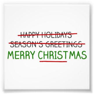 Frohe Weihnachten, nicht die Grüße der Jahreszeit Foto Druck